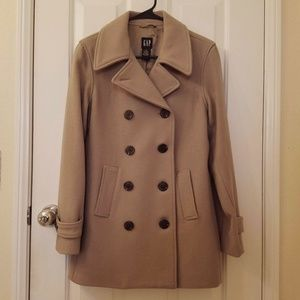 GAP Camel Tan Pea Coat EUC